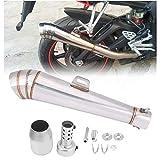 Tubo de escape de motocicleta Qiilu Cola de Escape para motos y scooters con 49 ccm y 50ccm de diámetro
