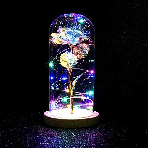 TwoCC Rose Gold Folie Mit Glasdekoration Kuppel Glas Dekorative Romantische Multicolor Seide Zum Valentinstag Hochzeit