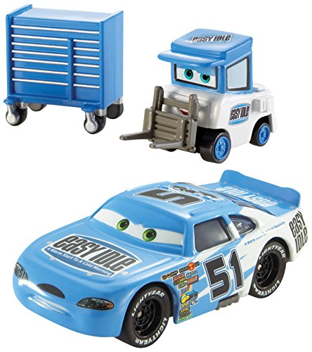 Disney/Pixar Cars, Piston Cup Series, Ruby Easy Oaks and Easy Idle Pitty Die-Cast Vehicles