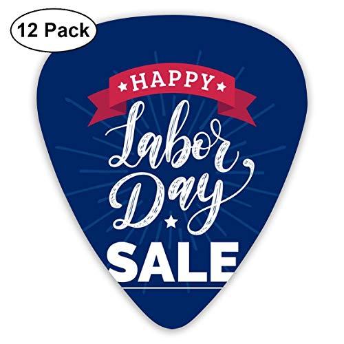 Gitaar Pick Happy Arbeid Dag Verkoop Kaart 12 Stuk Gitaar Paddle Set Gemaakt Van Milieubescherming ABS Materiaal, Geschikt voor Gitaren, Quads, Etc