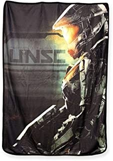 JUST FUNKY Halo Blanket Featuring The Master Chief Fleece Blanket, 45 x 60 inches