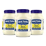 Best Foods Mayonnaise For a Creamy Condiment for Sandwiches and Simple Meals Real Mayo Gluten Free, Made With 100% Cage-Free Eggs 30 oz 3 Count