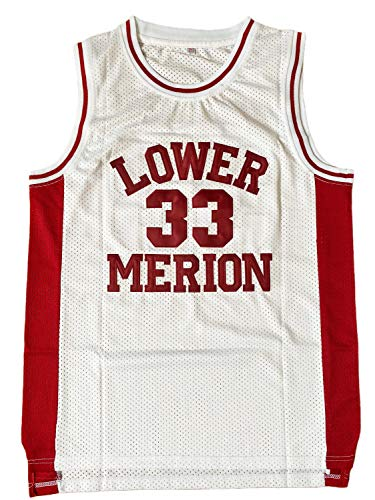 EHCSROP Mens #33 High School Basketball Jersey for Bryant Fans (White, Large)