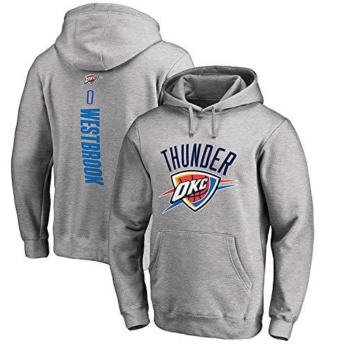 Sudaderas con Capucha para Hombre Aficionados al Baloncesto Jersey Oklahoma City Thunder Russell Westbrook Sudaderas con cordón Manga Larga Jersey cómodo Casual S-XXXL, L