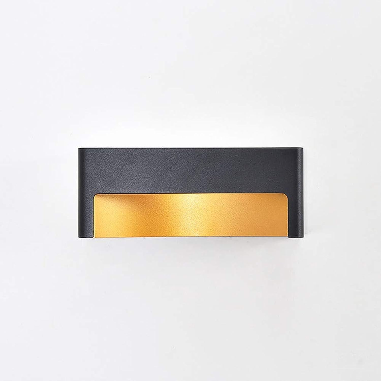 MESST LED-Wandleuchte, Aluminium-Lampenkrper, LED-Lichtquelle, nordische minimalistische Schlafzimmer-Wandleuchte, geeignet für Schlafzimmer-Wohnzimmer-Korridor-Gang,schwarz