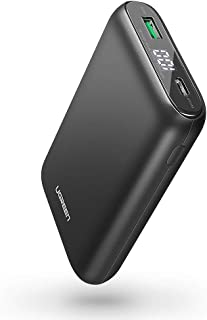 UGREEN Portable Charger 10000mAh PD 18W USB C Power Bank Power Delivery 3.0 Battery Pack QC 3.0 Fast Charge with LED, Compatible for iPhone SE 11 Pro Max, XR XS Max X 8, iPad, Samsung, LG, Phones