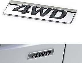 3D Metal 4WD Car Side Fender Rear Trunk Emblem Badge Sticker Decals for Hyundai IX25 IX35 Tucson