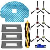 APLUSTECH Kit Accesorios Recambio para Ecovacs Deebot OZMO 930 Aspiradora Robot - Cepillo Lateral, Cepillo Principal, Filtro HEPA con Esponja Negra y Mopa - 13PCS