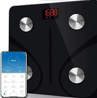 Qaqv Báscula de grasa corporal Báscula Bluetooth Báscula de peso Medición doméstica Báscula electrónica BMI inteligente Báscula de grasa corporal Báscula de baño