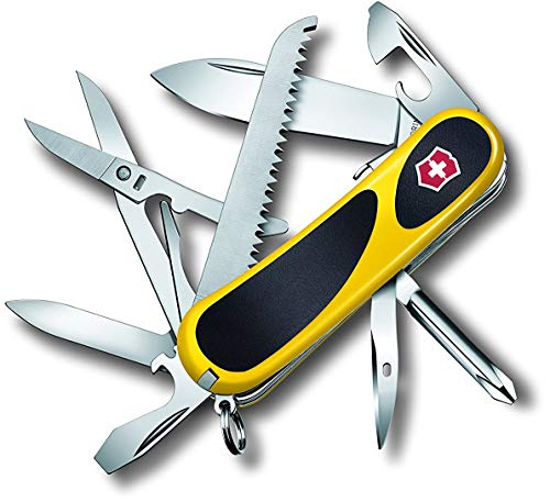 Victorinox Taschenmesser Evolution 18 (15 Funktionen, Ergonomisch, Feststellklinge) gelb/schwarz