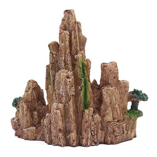 bismarckbeer Résine Rocaille Artificielle Hill d'aquarium Miniature Ornement Paysage Décor