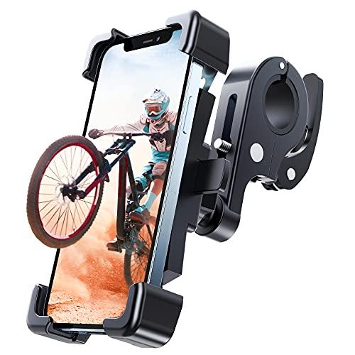 UNBREAKcable Fahrrad Handyhalterung Motorrad [Extrem Stabile & Schnellspanner] 360° Drehbar Handy Fahrradhalterung Universal Outdoor Fahrrad Halter für iPhone12 /Samsung S21/Huawei/Xiaomi usw