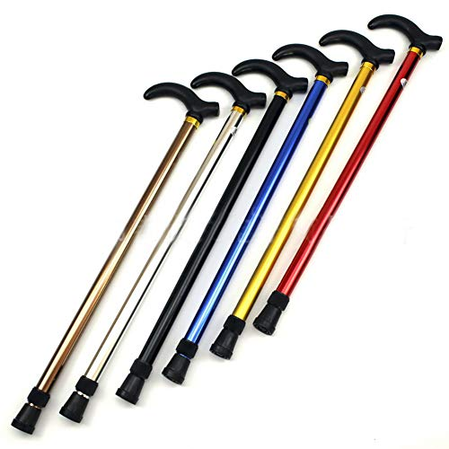XiAnYeMa Plegable sección Dos de caña Bastón Trekking Polo Muleta Ajustable (Color...