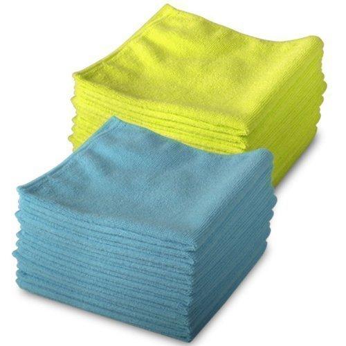 Exel Mikrofaser Reinigungstücher 20 Stück Packung 10 in Blau & 10 in Gelb Magische Tücher - Frei von Chemikalien - Antibakterielle Mikrofasertücher für Schmier Freies Wischen - A