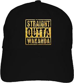2c61ce674b6 Straight Outta Wakanda Dad Hat Baseball Cap Black Panther Type Marvel Movie  Craze