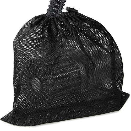 Coolrunner Large Pump Barrier Bag, 17.3'x 17.3' Pond Pump Filter Bag, Black Media Bag Large Pump Mesh Bag for Pond Biological Filters(Black)