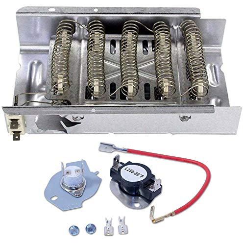 Siwdoy 279838 Dryer Heating Element and 279816 Thermostat Kit Compatible with Whirlpool Dryer
