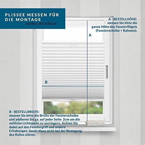 Plissee Weiß HOME-VISION - 9