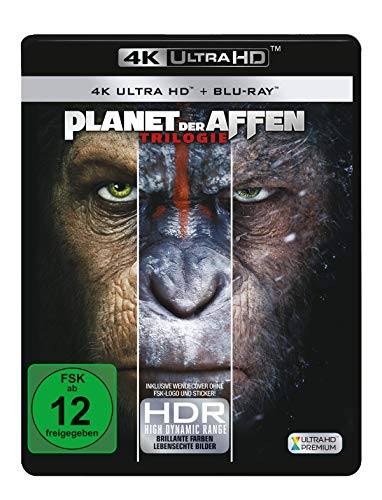 Planet der Affen 1-3  (3 4K Ultra HD) (+ 3 Blu-rays 2D)