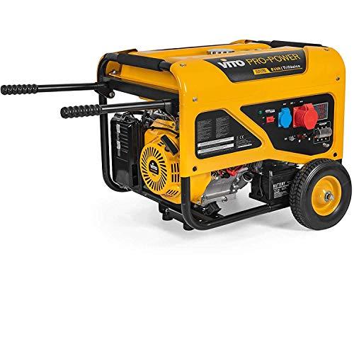 VITO Professional Benzin Stromerzeuger VIG8TRL 230V & 400V - 8kVA Generator 15PS 6500W mit E-Starter Stromerzeuger 400v - AVR-Regelung für empfindliche elektronische Geräte (VIG8TRL 8kVA)