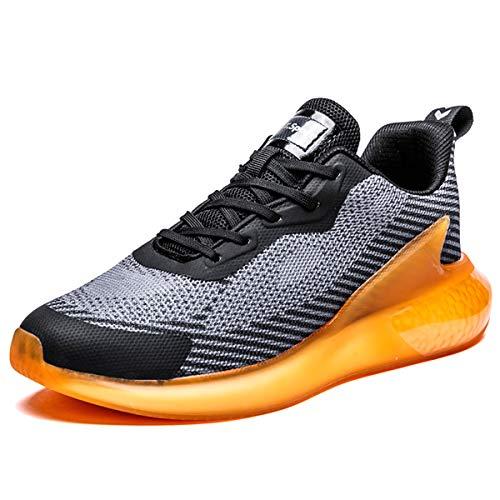 Magnifier Zapatillas de Deporte para Hombre Moda Zapatillas Deportivas Ligeras y Transpirables Tenis Calzado Casual para Caminar,Naranja,44