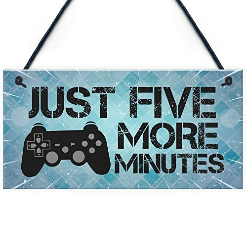 RED OCEAN Funny Gamer Gift For Son Gaming Sign Hanging Man Cave Sign Playstation Fan Gift