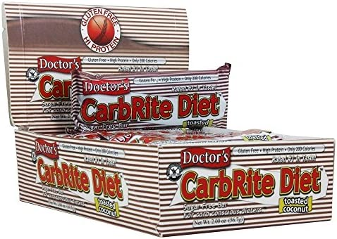 Universal Nutrition Doctor s CarbRite Diet Bars Toasted Coconut 12 Bars 2 0 oz 56 7 g Each product image
