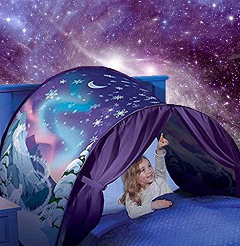 LSP Tienda de campaña para cama de ensueño, ideal para el invierno, ideal para niños y niñas, tienda de campaña de juegos para niños, casa de juegos mágicos, regalos de cumpleaños de Navidad