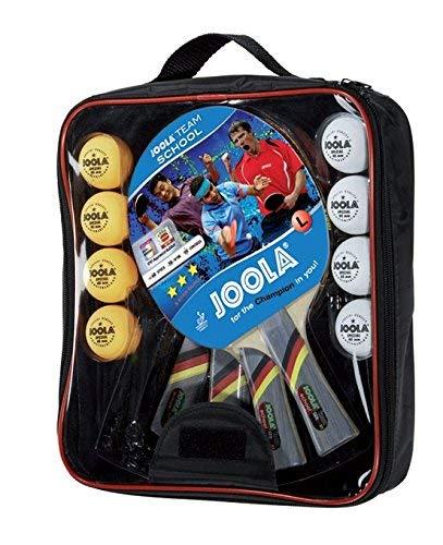 JOOLA Tischtennis-Set Team School & Tischtennis-Bälle Training 40mm, Orange 12er Blister Pack