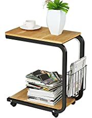 Soges Laptop Computer Stand Desk 20inches Cart Tray Nesting Tables for Bed Sofa Mobile End Table