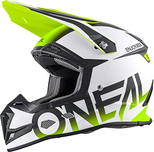 O'NEAL 5 Series Motocross Enduro MTB Helm Blocker weiß/schwarz/gelb 2018 Oneal: Größe: XL (61-62cm)