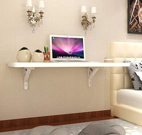 Tabelle Klapptisch Weiße Wand Tisch mit Metallhalterung Esstisch Computer-Tabelle Desktop-Stärke 2,5 Cm Klavier-Farbe (Größe, 70x40cm), 80x40cm (Größe: 70x40cm) Einfach zu installieren
