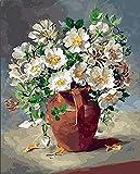 Pintura de bricolaje por números flores pintura al óleo pintada a mano pintura acrílica decoración del hogar regalo único divertido en el hogar A4 50x70cm