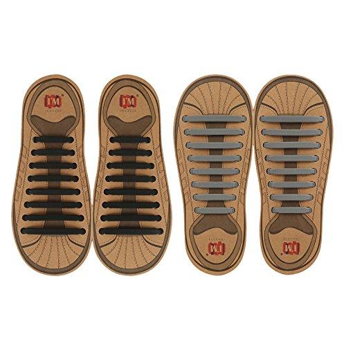 INMAKER No Tie Shoelaces, Pack of 2, Elastic Shoe...