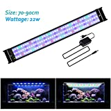 JOYHILL Eclairage Aquarium LED, Rampe LED pour Aquarium d'eau Douce, Lumiere Aquarium Plantes, 2 Mode Lampe LED pour Aquarium 70cm-90cm