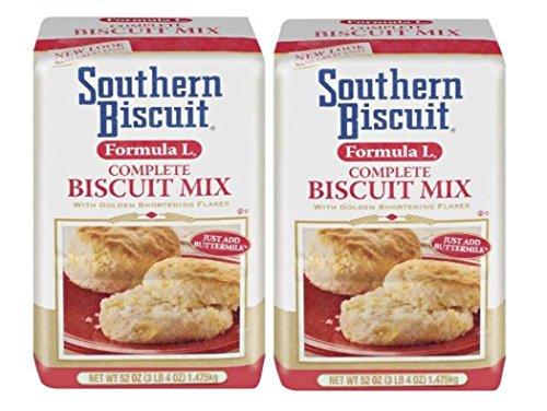 Southern Biscuit Formula L Complete W/golden Shortening Flakes Biscuit Mix, 2-52 Oz. Pkgs