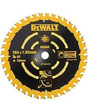 DEWALT Extreme cirkelsågblad DT10303 (för handcirkelsågar utan spaltkil sågblad ø 184/16 mm, skärbredd: 1,65 mm, 40 tänder, tandgeometri: WZ, tandvinkel: 18°, för fina skär) 1 styck