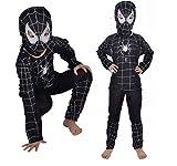 Inception Pro Infinite Taglia S - 3 - 4 anni - Costume - Travestimento - Carnevale - Halloween - Super eroe - Uomo Ragno - Nero - Bambino
