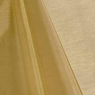 "mds Pack of 10 Yard Bridal Solid Sheer Organza Fabric Bolt for Wedding Dress,Fashion, Crafts, Decorations Silky Shiny Organza 44""- Champagne Gold"