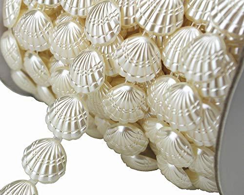 10m 3/5'Ancho marfil carcasa Pearl Rhinestone cadena Sew en vestido de novia adornos decoracin lz113