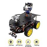 WiFi Inteligente del Robot Kit de 4B / 3B + programable 4WD Truck Target Tracking de transmisión de vídeo Robot Educativo Línea Sensor ultrasónico Seguidor,Negro