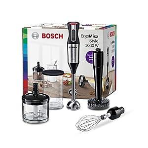 Bosch ErgoMixx Style Stabmixer MS6CM6155, 1000W, Püreestab, Zerkleinerer, Edelstahl/schwarz