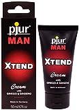 pjur MAN Xtend Cream - Crema per erezione per uomini esigenti - con estratto di ginkgo e ginseng per divertirsi a lungo (50ml)