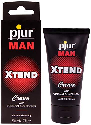 pjur MAN XTEND Cream - Erektionscreme für Männer, die mehr wollen - mit Ginkgo- und Ginseng-Extrakt für verlängerten Spaß (50ml)