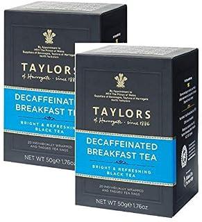 Taylors of Harrogate Schwarztee Entkoffeiniert Hell & Erfrischend - 2 x 20 Teebeutel 100 Gramm