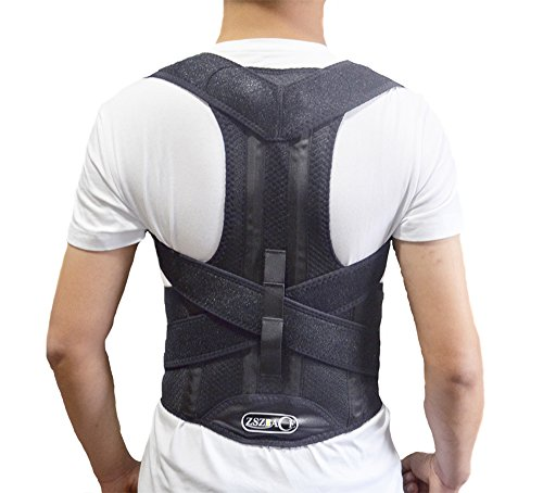 Back Brace Posture Corrector | Best Fully Adjustable Support Brace | Improves Posture and Provides Lumbar Support | for Lower and Upper Back Pain | Men and Women (XL)
