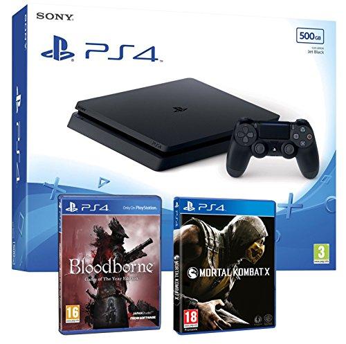 """Playstation 4packs de console avec jeux noir 500Gb - Pack """"Blood/Gore"""" 2 Juegos - PEGI 18 Slim 500Gb"""