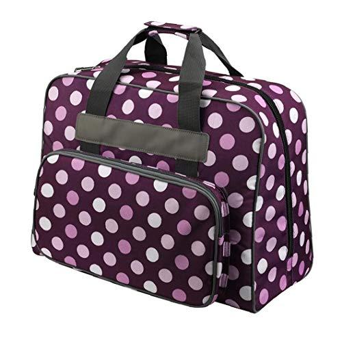 Máquina de Coser Sacos, Bolsa de la máquina de Coser de Mano Organizador Accesorios de Costura agitan el Punto Oxford Tela púrpura de Bordado