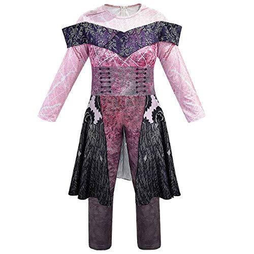 Leezeshaw disfraz de Halloween para adultos y niños descendientes 3, disfraz de Audrey Mal para niñas y mujeres