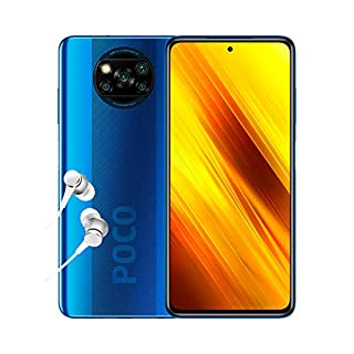 """Poco X3 NFC - Smartphone 6+128GB, 6,67"""" FHD+ Punch-Hole Display, Snapdragon 732G, 64MP AI Penta-Camera, 5160mAh, Cobalt Blue (Official UK Version + 2 Years Warranty) (B08G9N272T) 